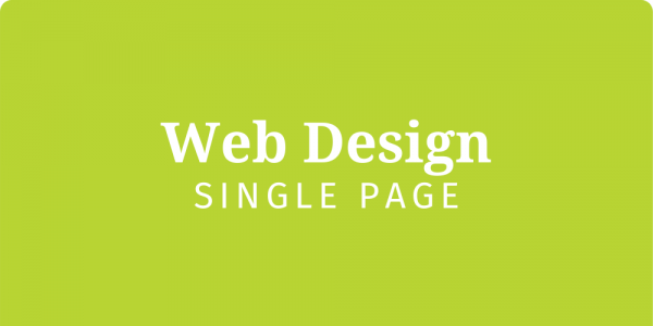 Web Design - Single page