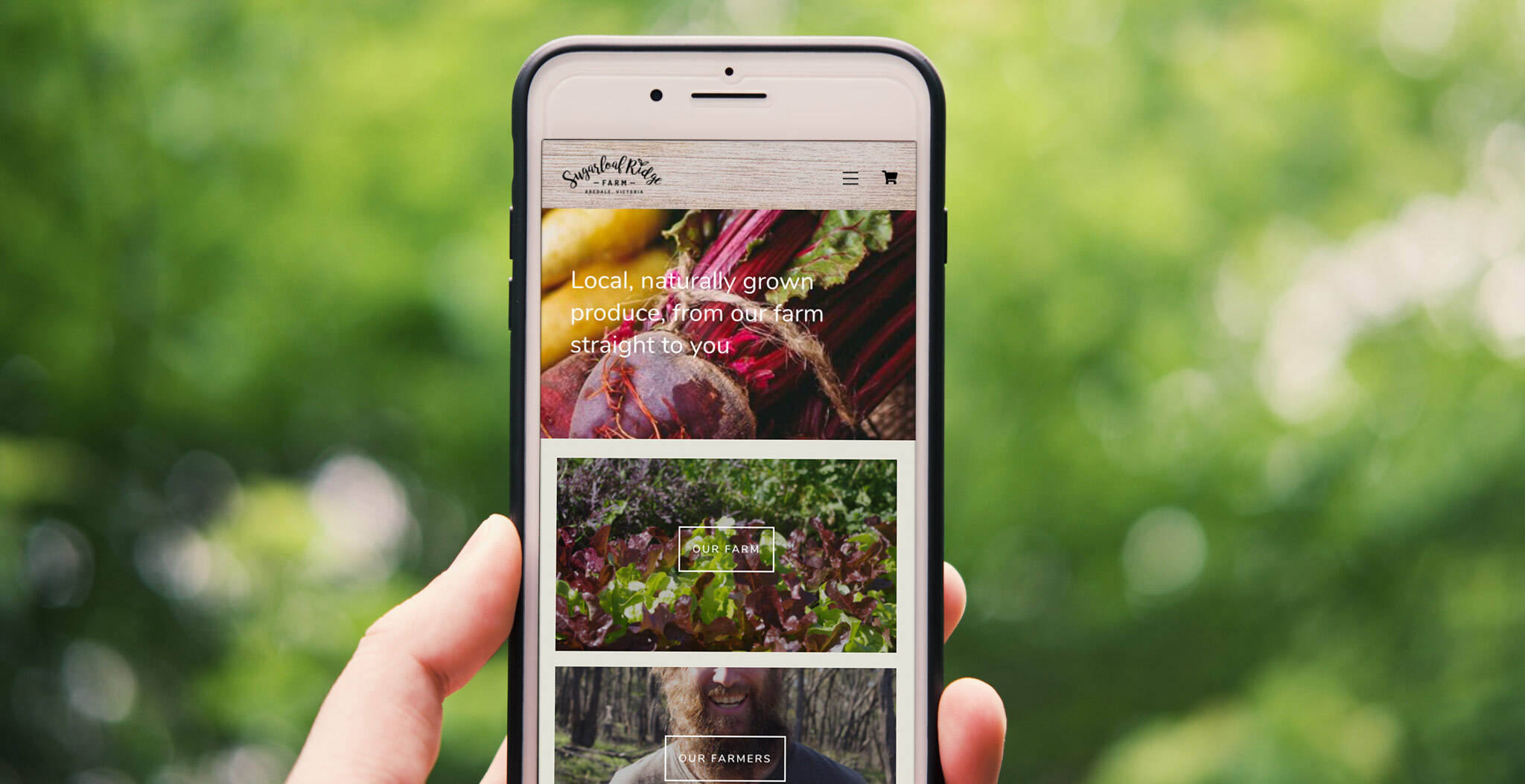 Web Design Bendigo - Sugarloaf Ridge Farm eCommerce store | Type Creative